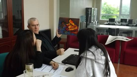 佛罗伦萨美术学院教授亲临泓钰学校校考