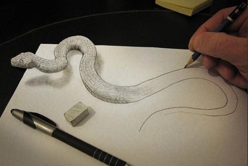 意大利艺术家迪迪的3d铅笔手绘